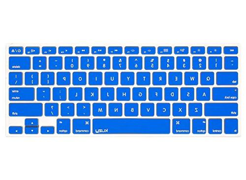 """Kuzy - BLUE Keyboard Cover Silicone Skin for MacBook Pro 13"""""""