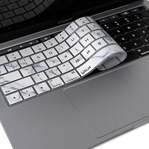 Kuzy Keyboard Cover for NEWEST MacBook Pro with Touch Bar 13