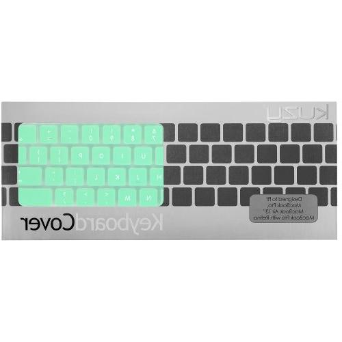 """Kuzy Mint Keyboard Silicone Skin for MacBook Pro 13"""" 15"""" 17"""" and MacBook Air 13"""" - Mint"""