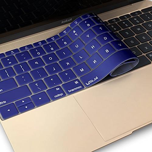 "Kuzy - Keyboard for MacBook Pro 13 inch Release 2016 & MacBook 12"" A1534 Skin Blue"