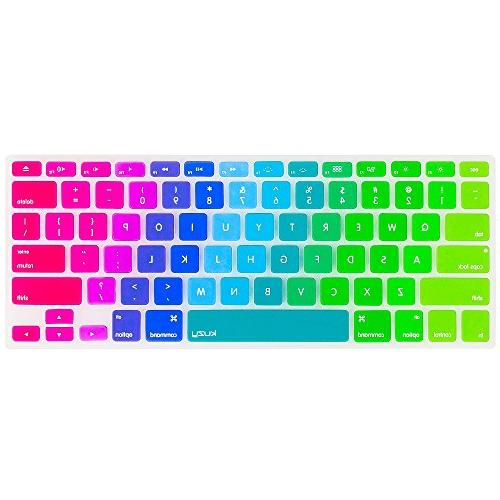"""Kuzy Cover Silicone for MacBook Pro 17"""" Air 13"""" Rainbow"""