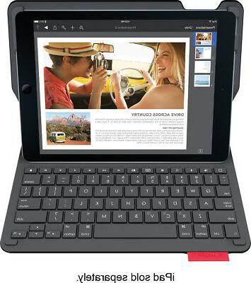 Logitech - Type+ Bluetooth Keyboard Case For Apple® Ipad