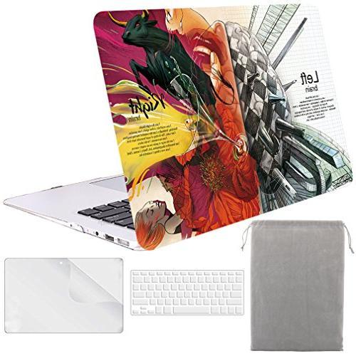 Sykiila - for Macbook Air 13 Inch Case Hard Cover 4 in 1 Fol