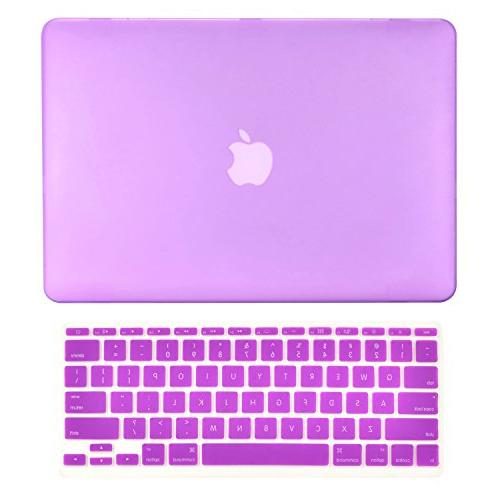 TOP CASE - 2 in 1 Bundle Deal Air 11-Inch Rubberized Hard Ca