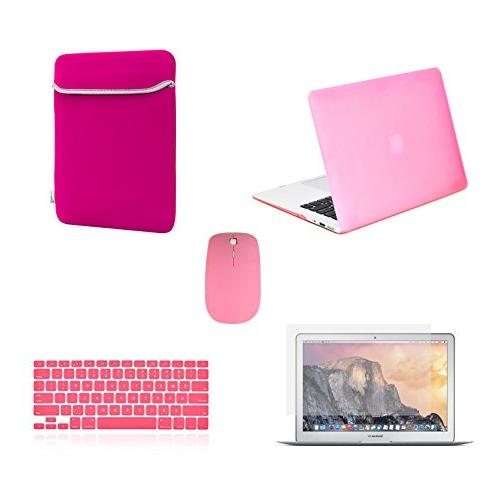 TOP CASE - 5 in 1 Rubberized Hard Case, Keyboard Cover, Scre