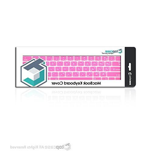 """TOP Letter Skin with 13"""" Unibody/Old Generation Pro 15"""" with or without Retina Display/Wireless Keyboard - Hot Pink"""