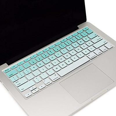 "Ombre Series Cover Skin Compatible with 13"" Unibody/Old Pro 13"" 15"" 17""/Macbook Air Ombre Aqua &White"