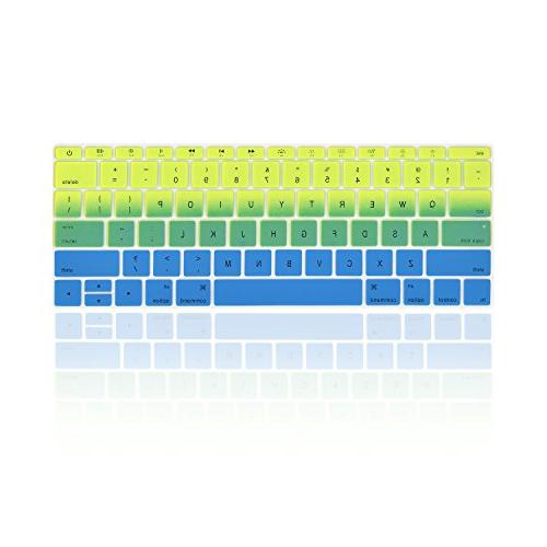 TOP - Faded Ombre Silicone Pro 13 Release / 12-inch A1534 TOP CASE Pad - Green / Blue