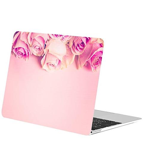 "TOP 12"" in Bundle, Pattern Hard Case MacBook Display Model: A1534 Pink Rose"