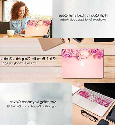 "TOP CASE 12"" Retina in Bundle, Floral Pattern + Keyboard Cover MacBook Display Model: Pink"
