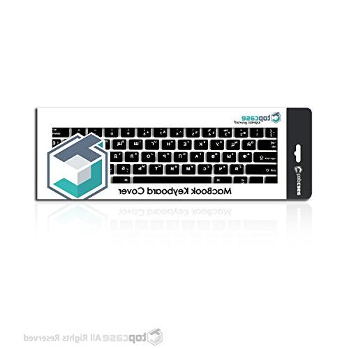 """TOP CASE Russian/English Letter Cover Compatible Macbook 13"""" Unibody/Old 13"""" 15"""" 17"""" / Macbook Wireless Keyboard"""