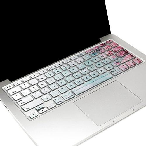 TOP in 1 Matte Case, Keyboard Cover, Screen Protector, Mouse Compatible with A1369 & - Not Compatible A1932 Retina Display Pink Hyacinth