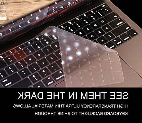 Ultra Thin Clear Keyboard Cover for 2017/2016 Release MacBoo