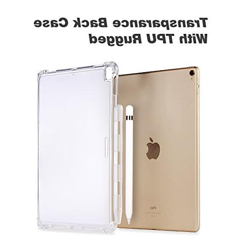 Valkit iPad Pro 10.5 Back iPad Pro Case, Protective Rugged fit Apple Smart with Apple Clear
