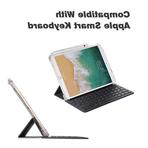 Valkit for Pro 10.5 Back iPad Pro Protective Cover New Pro 10.5 fit Apple Smart with Apple Pencial Holder, Clear