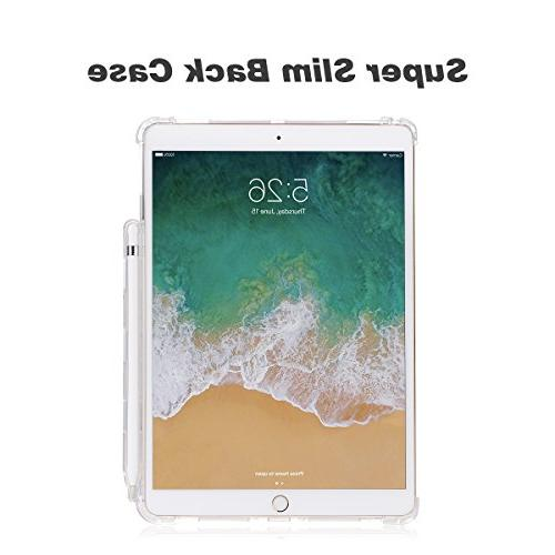 Valkit for 10.5 iPad Pro 10.5 Shockproof Protective Rugged Cover Pro fit Smart with Apple Clear
