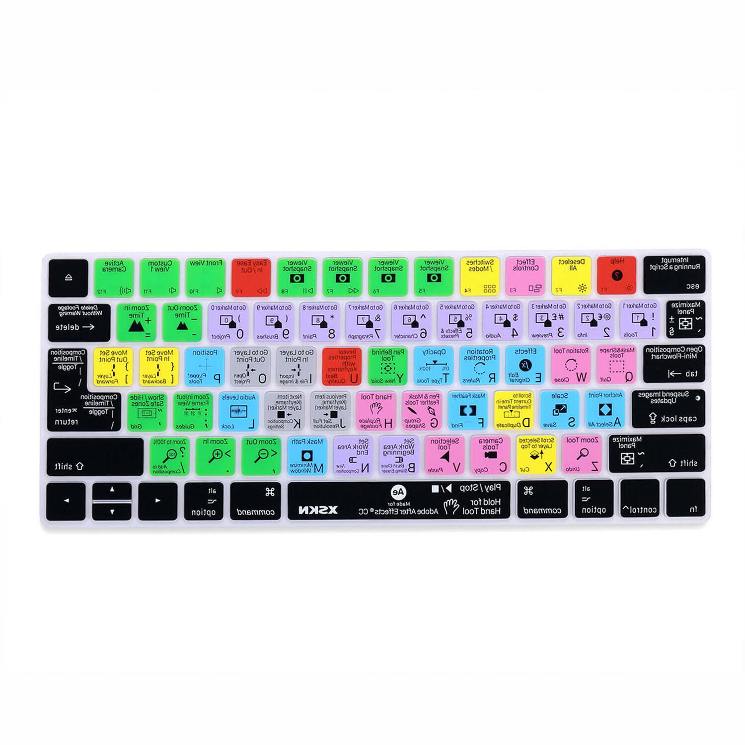XSKN Adobe After CC Keyboard Cover for Apple