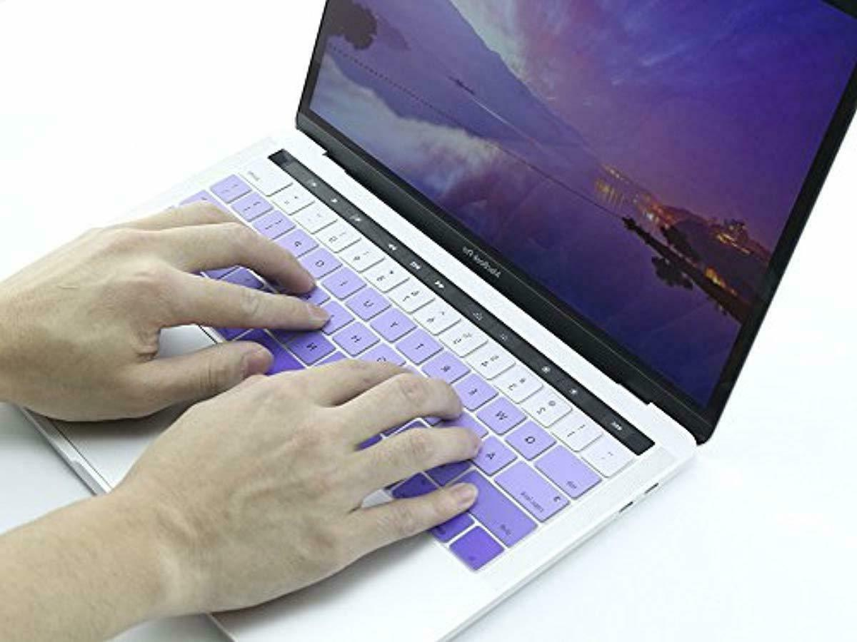 All-inside Purple Silicone for Macbook Pro and