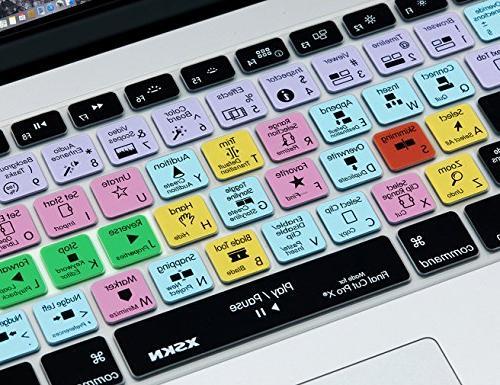 XSKN Apple Cut Pro X 10 Shortcut Design Silicone Skin Cover Macbook 13 15 17