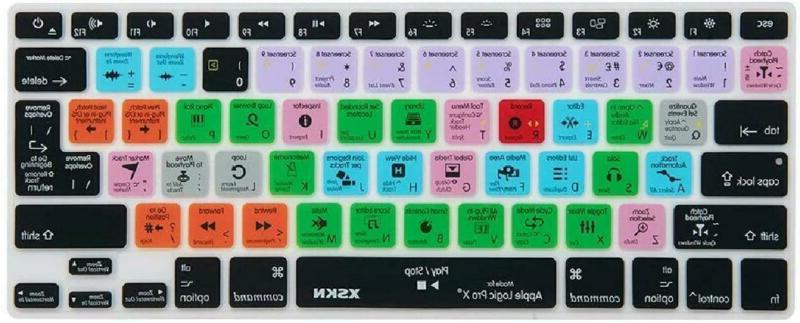 Xskn For Apple Logic Pro X 10 Shortcut Design Silicone Keybo