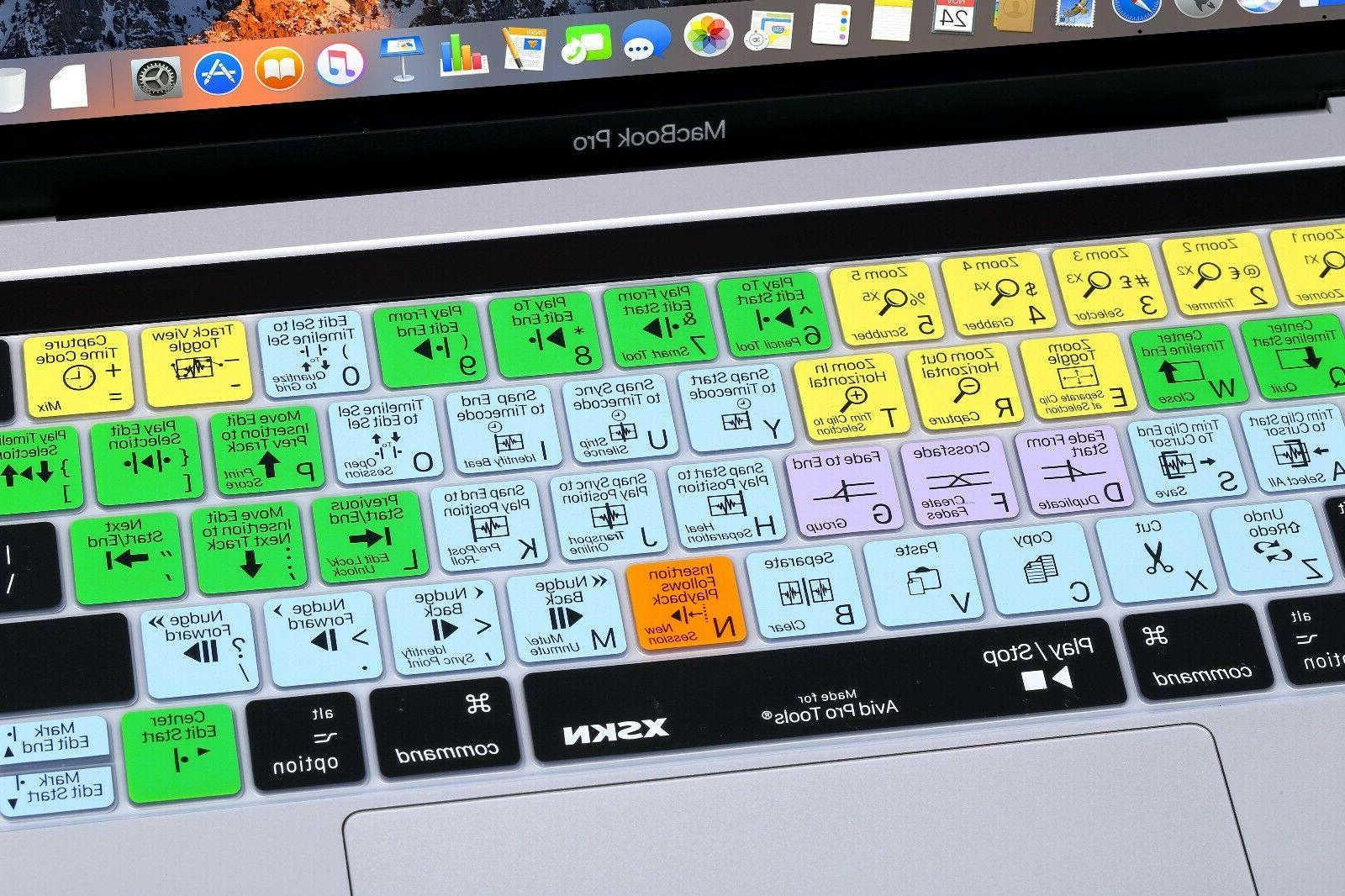 XSKN Avid Shortcut Keyboard Cover Touch MacBook 13