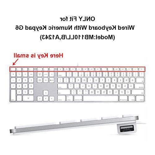 HRH Avid Functional Keys Design Skin Cover for Apple Keyboard Number pad and