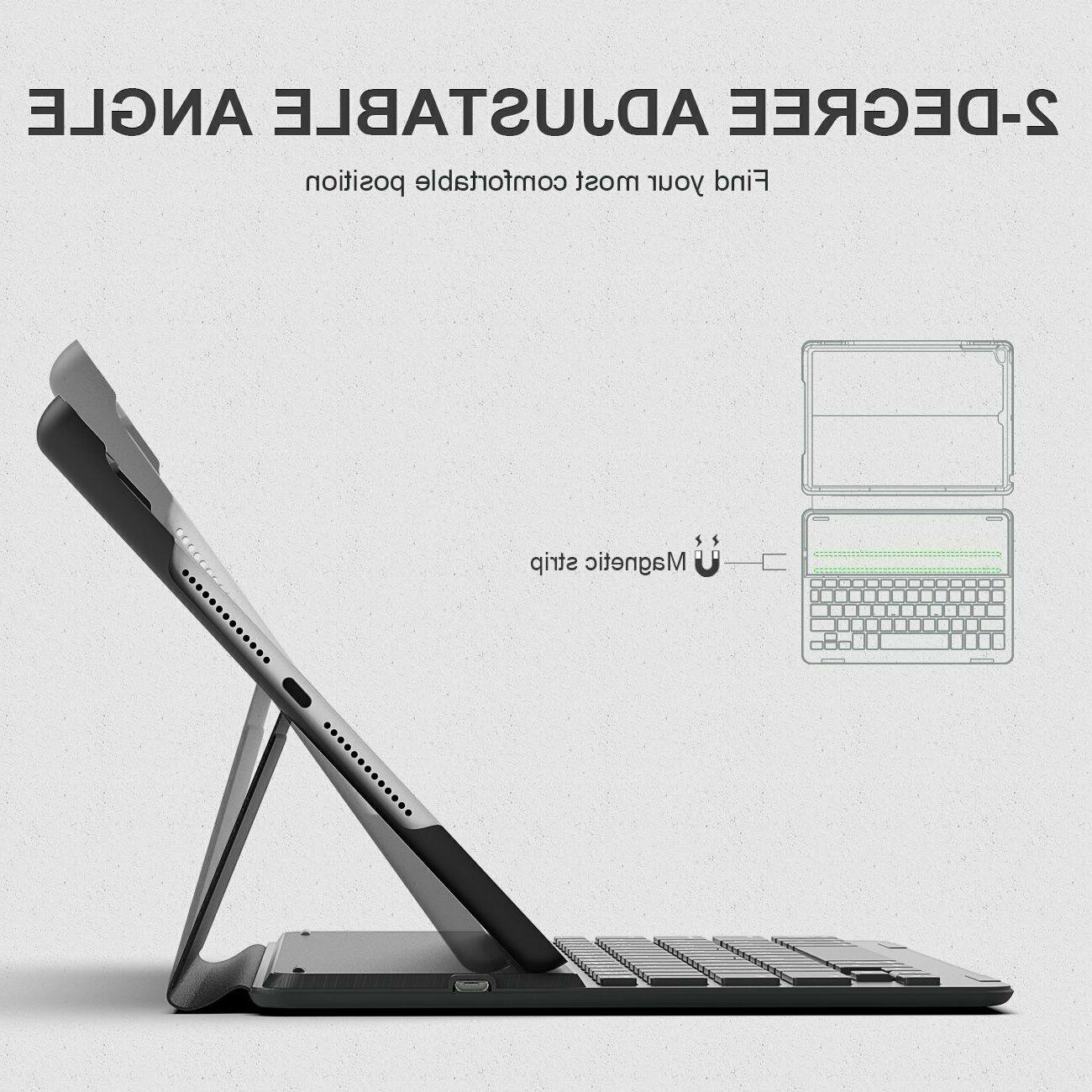 Inateck Backlit iPad Bluetooth Keyboard Cover fit 9.7 inch 2018/2017