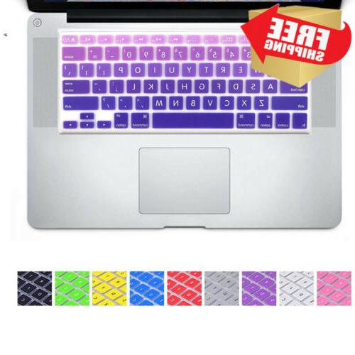 big font violet gradient keyboard cover silicone