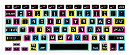 Black Font Keyboard Cover Skin Macbook Pro Air Retina 13