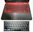 black carbon fiber Palmrest Skin+ Keyboard Cover for Dell In