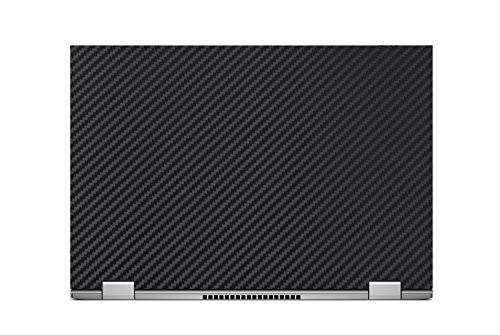 """Black Carbon decal wrap + Semi Black Keyboard Cover for Dell in 7347 7348 7353 13.3"""""""