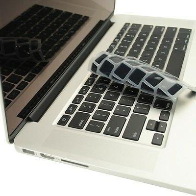 """BLACK Silicone Keyboard Cover for NEW Macbook Pro 13"""" A1425"""