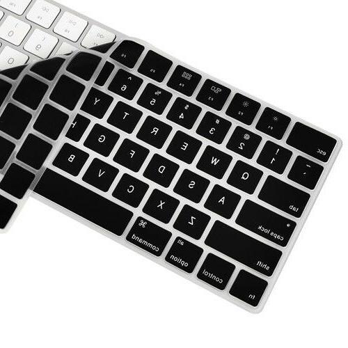 Black  Ultra Thin Keyboard Cover Skin for Magic Keyboard MLA