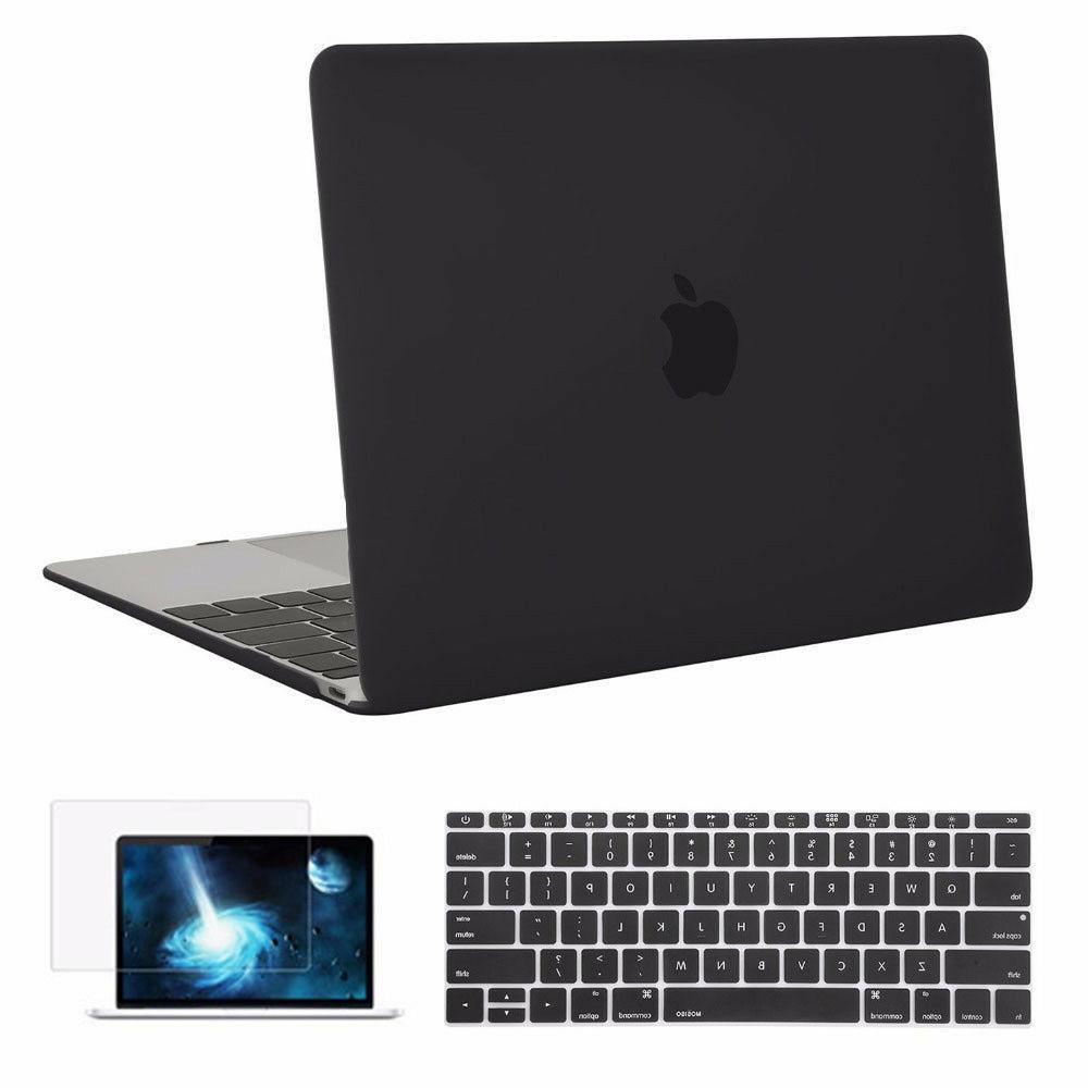 Mosiso Case for Macbook 12 Retina 2017 2016 2015 + Silicone