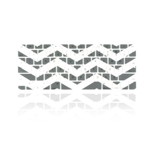 Chevron Series Gray N White Silicone Keyboard Cover for Macb