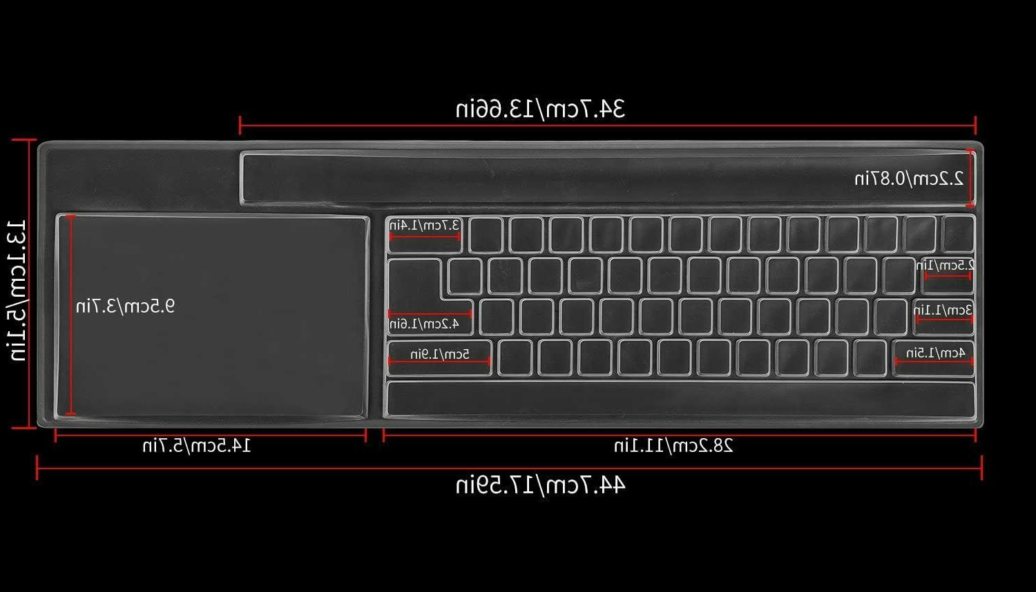 Clear Desktop Keyboard Cover Skin for