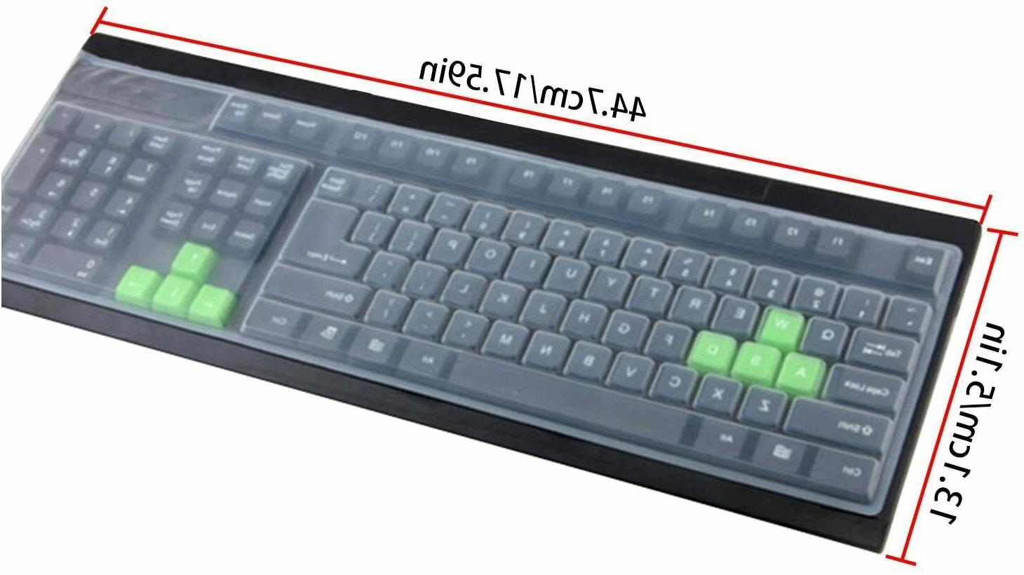 clear desktop computer keyboard cover skin