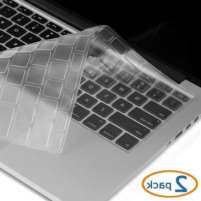 2Packs Silicone Laptop Keyboard Protector Cover for Macbook