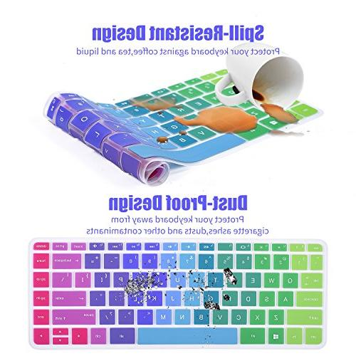 "CaseBuy Colorful Silicon Keyboard Cover 13.3"" HP Pavilion x360 13-s128nr m3-u001dx u028tu u003dx US"