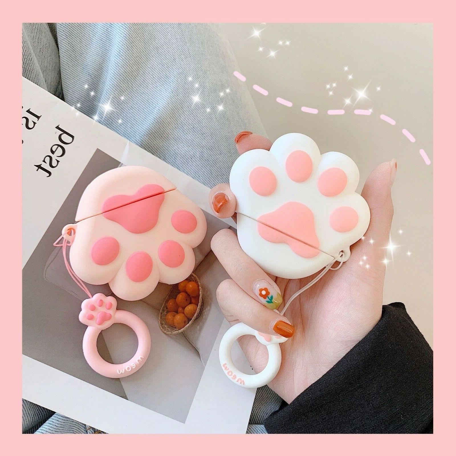 Cute 3D AirPods Silicone Case Cover Skin For Charging Case