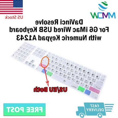 davinci resolve hotkey silicone keyboard cover