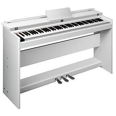 Electric 88 Keys Keyboard White Flip