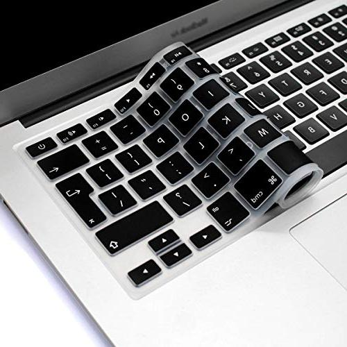 """HRH EU/UK Silicone Keyboard Skin Cover Shield for Apple Air 15"""" Layout"""