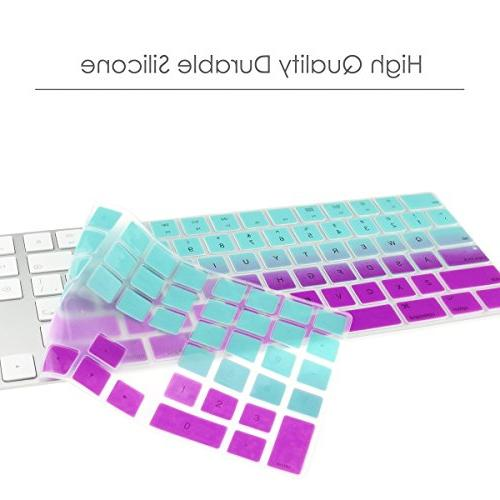 TOP Ombre Soft Keyboard Compatible with Apple Magic Keyboard Model: A1843 Hot & Purple