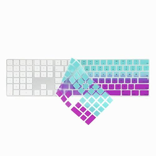 TOP CASE Faded Ombre Ultra Silicone Soft Keyboard Compatible with Keyboard Model: MQ052LL/A Hot &