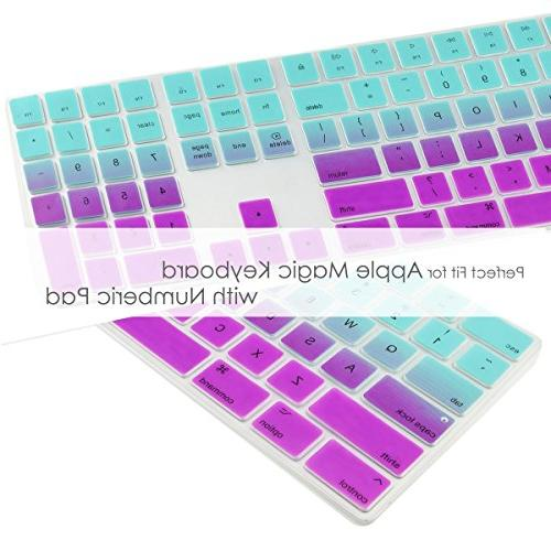 Soft Keyboard Cover Compatible Keyboard Model: MQ052LL/A A1843 - Hot Blue & Purple