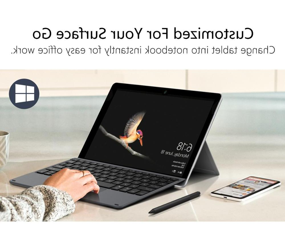 Microsoft Go,Slim Wireless Bluetooth <font><b>Keyboard</b></font> with LED Backlit,for Go 10 in