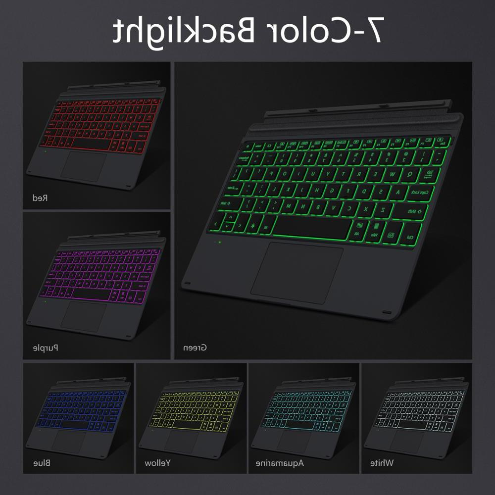 <font><b>MoKo</b></font> Type <font><b>Cover</b></font> For Microsoft Bluetooth Trackpad,7-Color LED Backlit,for 10 in