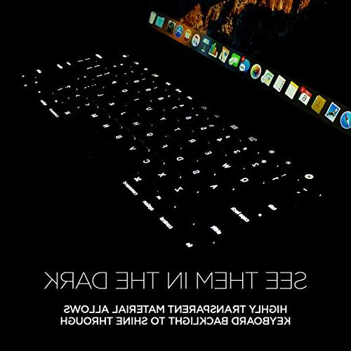 """UPPERCASE GhostCover Premium Ultra Thin Protector MacBook Pro with Bar 13"""" or , US/EU Keyboard Layout Compatible"""