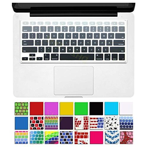 grey ombre keyboard cover silicone